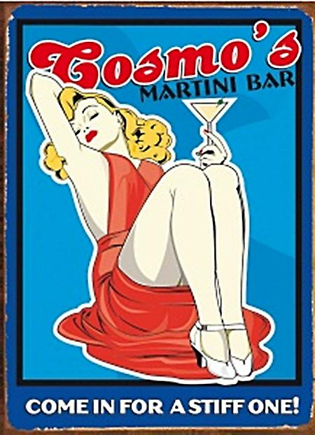 Cosmo's Martini Bar metal sign  (fd)