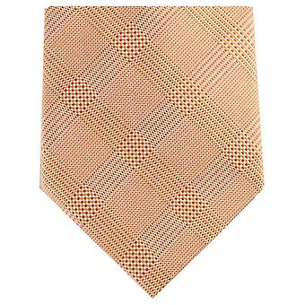 Knightsbridge Neckwear Patterned Regular Polyester Tie - Orange