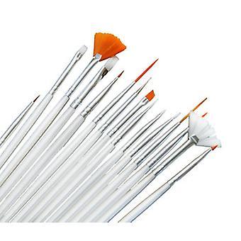 15 Brushes nail art brushes