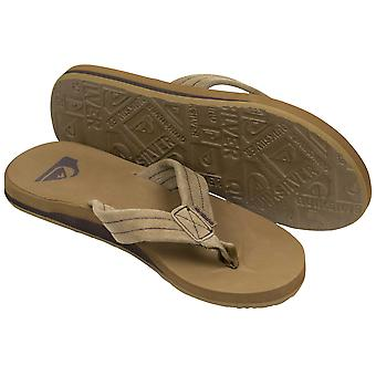 Quiksilver Mens Carver semsket stranden Casual sandaler - lys brun/svart