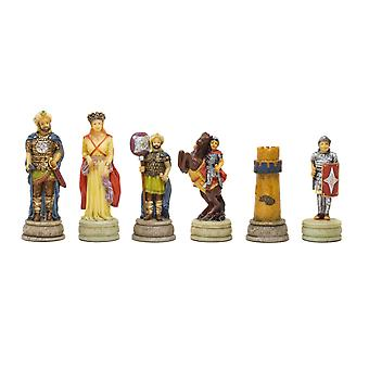 The Romans Vs Arabs Hand painted themed chess pieces by Italfama