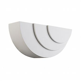 Endon 61637 Ripple White Plaster Curved Wall Light