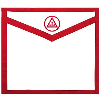 Masonic Apron Royal Arch. Red White Duck Cloth Apron - Triple Tau