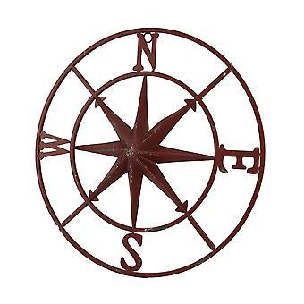 Distressed Metal Compass Rose Indoor/Outdoor Wall Hanging