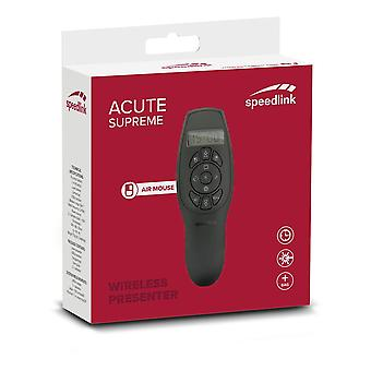 SPEEDLINK aigu Supreme Presenter et Air Mouse Black (SL-600402-BK)
