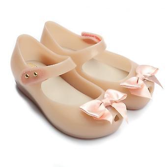 梅丽莎鞋迷你超女丝绸弓鞋,全裸