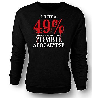 Mens Sweatshirt Zombie Apocalypse 49% - Horror grappig