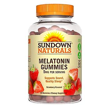 Sundown naturals melatonin, 5 mg, gummies, strawberry, 60 ea