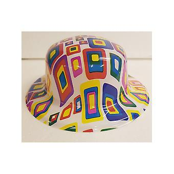 Coloured Square Bowler Hat