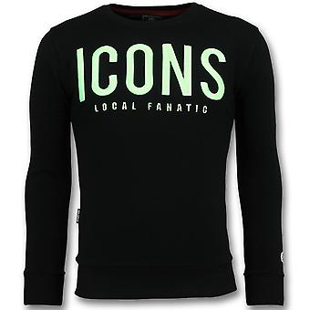 ICONS-Cute sweatshirt men-6349Z-Black