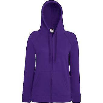 Fruit Of The Loom - Lady-Fit Ladies Lightweight Hooded Sweatshirt Jacket
