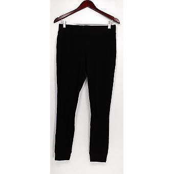 Iedereen leggings Loungewear gezellige wafel brei pull-on zwart A297423