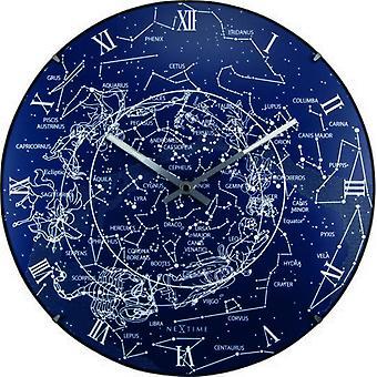 ساعة مضيئة نيكستيمي الأزرق التبانة 35 × 5 سم (الديكور، والساعات)