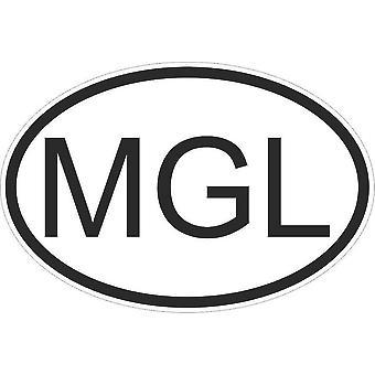 Autocollant Sticker Drapeau Oval Code Pays Voiture Moto Mongolie Mongol Mgl
