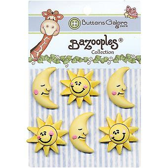 Bazooples Buttons The Sun & Moon Bz 104