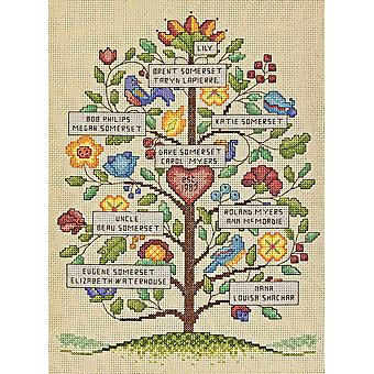 Vintage Family Tree Counted Cross Stitch Kit 9