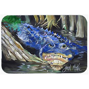 Alligator bleu verre Cutting Board grand JMK1135LCB