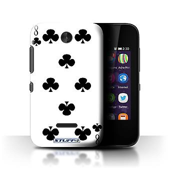 STUFF4 Case/Cover for Nokia Asha 230/8 of Clubs/Playing Cards