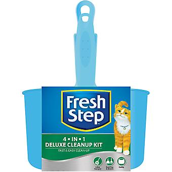 Fresh Step Deluxe Cleanup Kit-Scooper, Dust Pan, Broom & Caddy FFP8258
