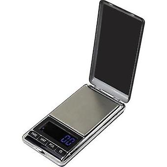 Pocket scales Basetech SJS-60007 Weight range 500 g Readability 0.1 g battery-powered Silver