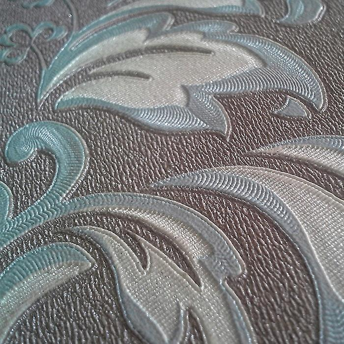 Non-woven wallpaper Baroque wallpaper XXL EDEM 966-25 pattern ornament turquoise classic taupe beige | 10.65 m2