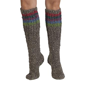 Tierra women's wool welly socks in pink | Fairtrade & hand-made by Pachamama