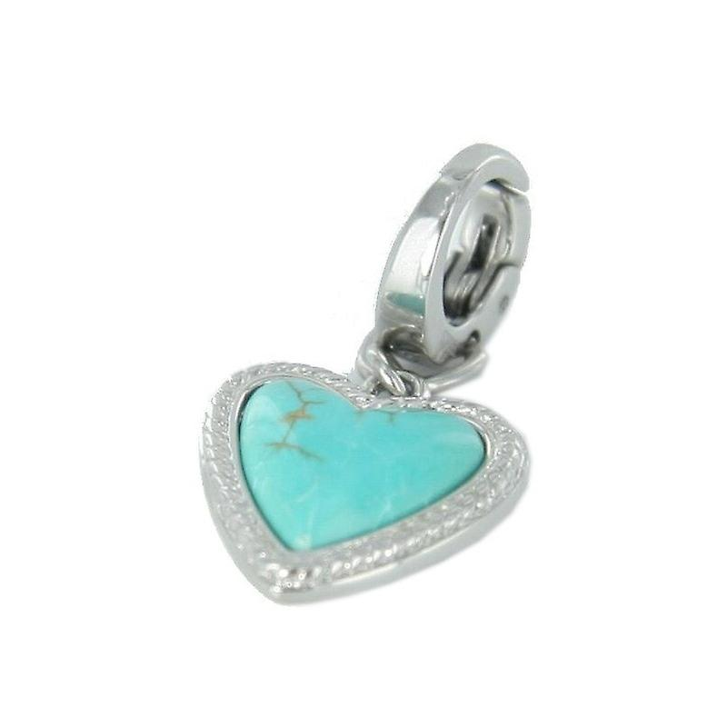 Fossil pendants charms JF88020040 heart turquoise