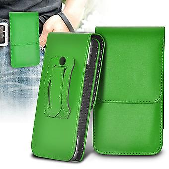 ONX3 (Green) Nokia 8 Case Premium Vertical Faux Leather Belt Holster Pouch Cover