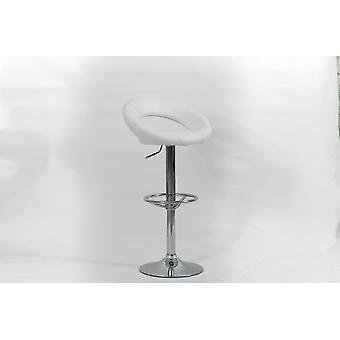 Choi Chrome And Faux Leather Padded Stool In Range Of Colours - Pack Of 2A - Swivel And Adjustable