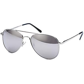 Bling metal sunglasses - pilot silver / mirrored