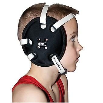 Cliff Keen Youth E58 Signature 4-Strap Stock Wrestling Headgear - Black