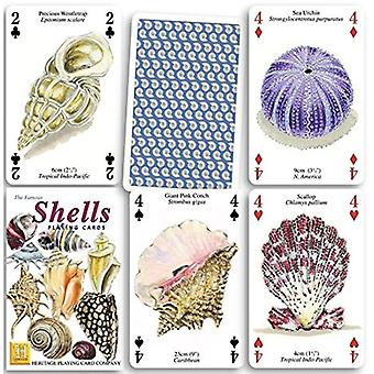 Shells set of 52 playing cards (+ jokers)    (hpc)