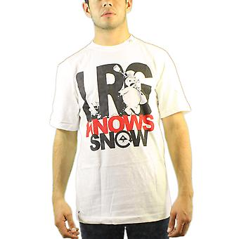 Lifted Research Group Snowman LRG Knows Your Snow Men's White T-shirt