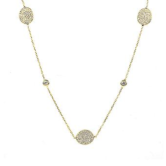 Necklace Long Oval Disc Gold