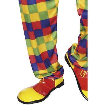 Clown-Schuhe, Rot und Gelb