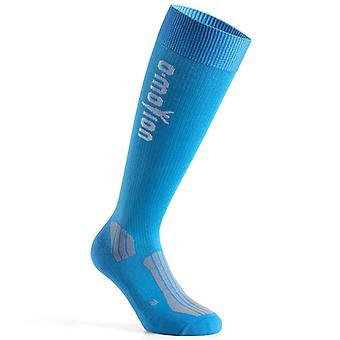 O-motion professionel sport sok kompression strømper blå