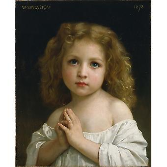 William Bouguereau - lille pige plakat Print Giclee