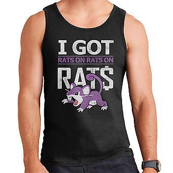 I Got Rats On Rats On Rats Rattata Pokemon White Men's Vest