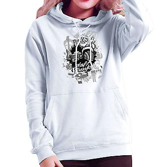 Daft Punk the Youth are Getting Restless Women's Hooded Sweatshirt