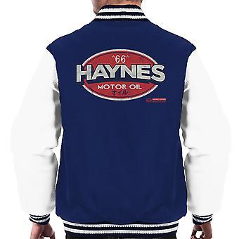 Haynes 66 Motor olie Golf Logo mannen Varsity Jacket