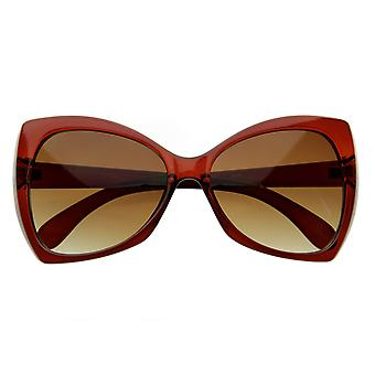 Designer Inspired  Oversize Butterfly Shaped Sunglasses Womens Fashion