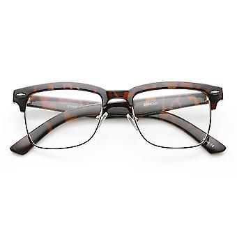 Unisex Square Medium Semi-Rimless Modern Fashion Glasses