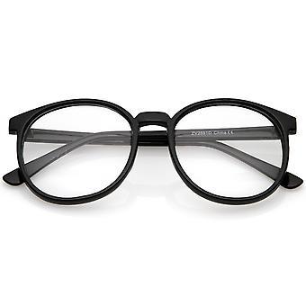 Klassiske P3 Horn kantede klar linse runde briller 53mm