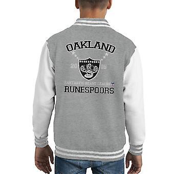 Phantastische Tierwesen Liga Oakland Runespoors Kid Varsity Jacket