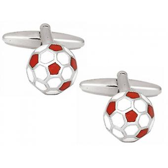Zennor Football Cufflinks - Red
