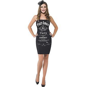 Women costumes Women Party girl black/white bottle size XS