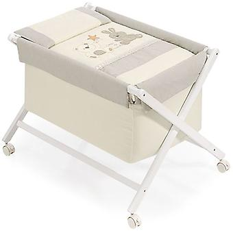 Interbaby Textile Walnut minicuna With Bear Star Model