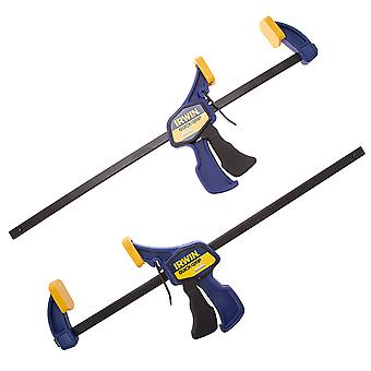Irwin Q/G54122Qc pince Mini Quick-Grip 300Mm/12 pouces Twin Pack