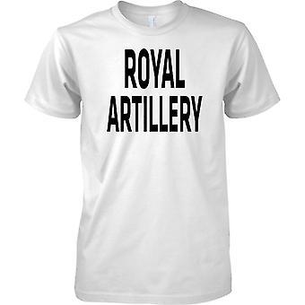 Licensed MOD -  British Army Royal Artillery - Text - Mens T Shirt