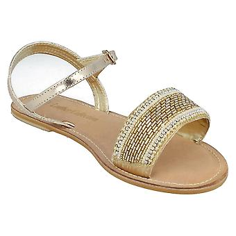 Spot On Womens/Ladies Leather Collection Beaded Sandals